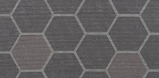 Pattern honeycell dark grey